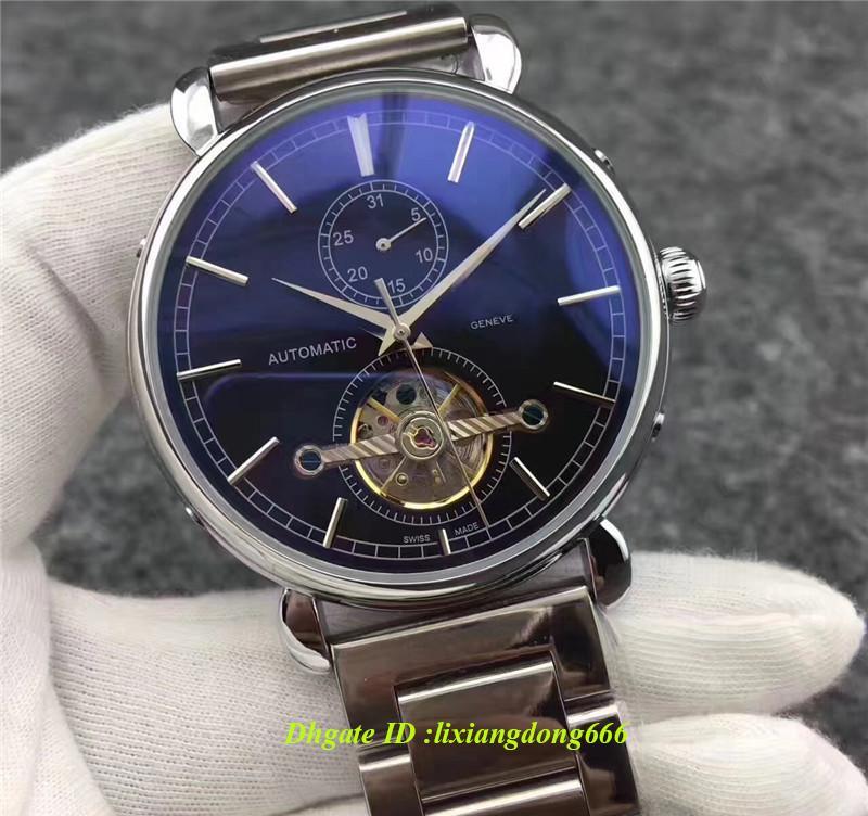 2019 best selling relogio masculino moda wist luxo preto dial calendário pulseira dobrável fivela mestre dos homens presente dos homens de luxo relógio