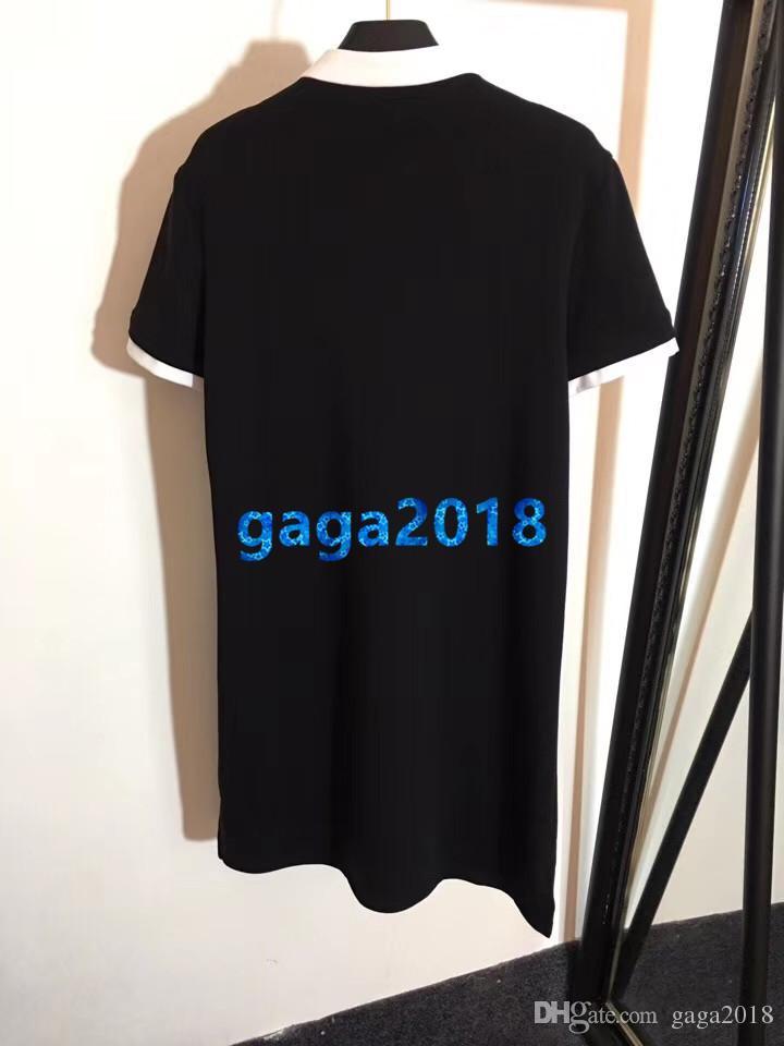 cf446c1a97fa women girls shirt dress letter motif stand collar zip short sleeve long t-shirt  tee vintage mini midi skirt high-end custom runway dresses