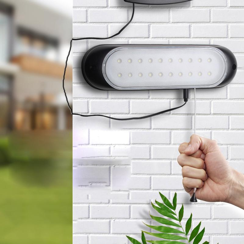 Giardino esterno sensore di luce impermeabile luce solare luce solare del LED parete con lampada da parete a fune di sicurezza interruttore