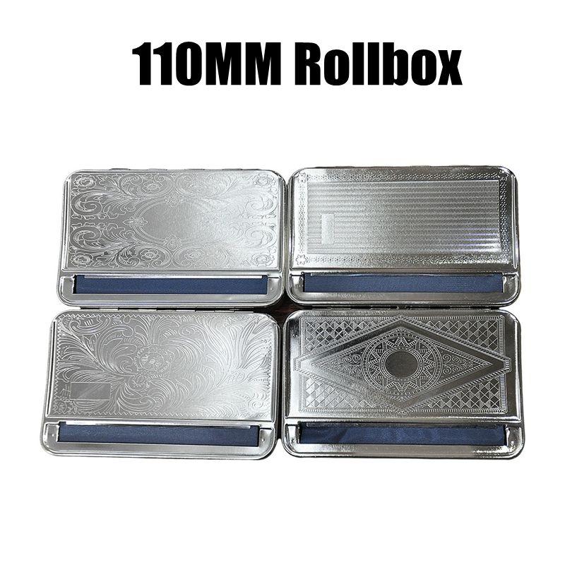 Metal Rollbox Cigarette 110MM Machine Worker Storage Box Case Portable Innovative Dry Herb Tobacco Preroll Prerolling Rolling Smoking Tool