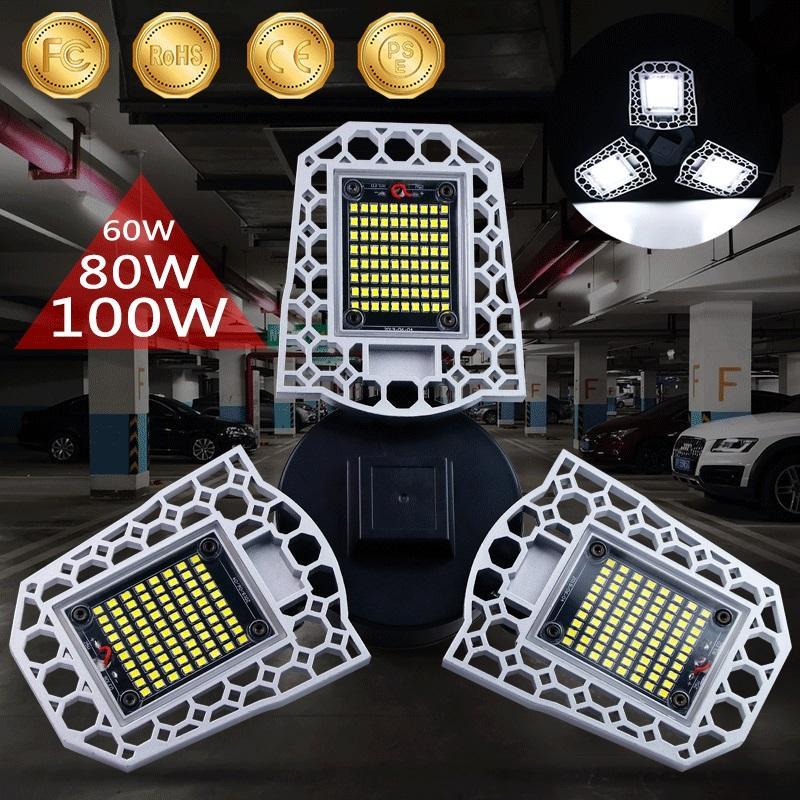 Деформируемого LED Garage Workshop свет водонепроницаемого IP65 освещение Промышленные лампы E26 / E27 Светильник для Workshop 2PC / подвала LOT, 5PC / LOT