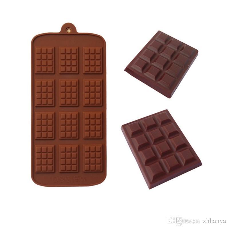 Moule à chocolat en silicone Waffle Pudding bricolage Outils Moisissures cuisson jardin Cuisine Salle à manger Bake Ware pour le chocolat