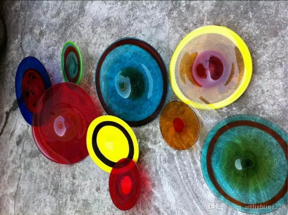 Cor Tamanho OEM soprado Placas de Iluminação parede de vidro Home Decor vidro Murano Hotel Murano Decoração Luz de vidro