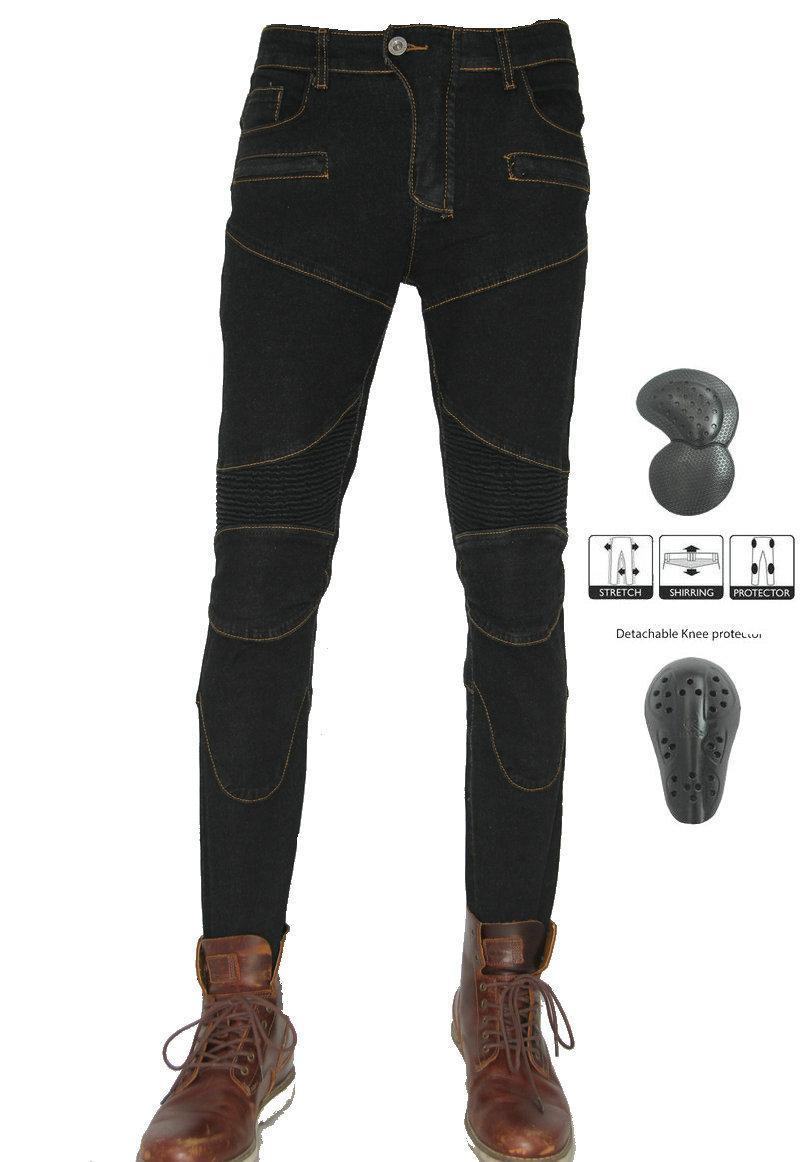 PK-718 calças de equitação motocicleta Moto Kinght diária ciclismo casuais jeans slim Motorbikers lazer calças engrenagens proteger a livre