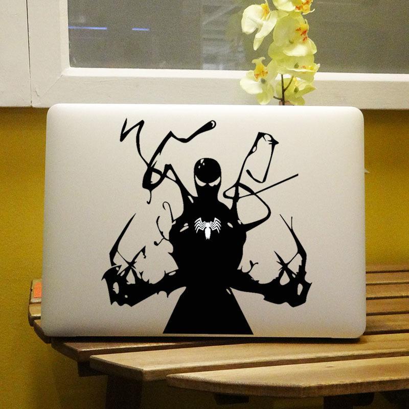 Glowing Venom Superhero Laptop Decal Sticker Macbook Decal Air 13 pouces 11 12 15 Pro Retina Mac Ordinateur portable Vinyle peau T6190615