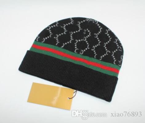 2019 Sıcak Kalite Lüks Sonbahar Kış Unisex yün şapka moda erkekler kadınlar Için rahat mektup mektuplar tasarımcı kap 66