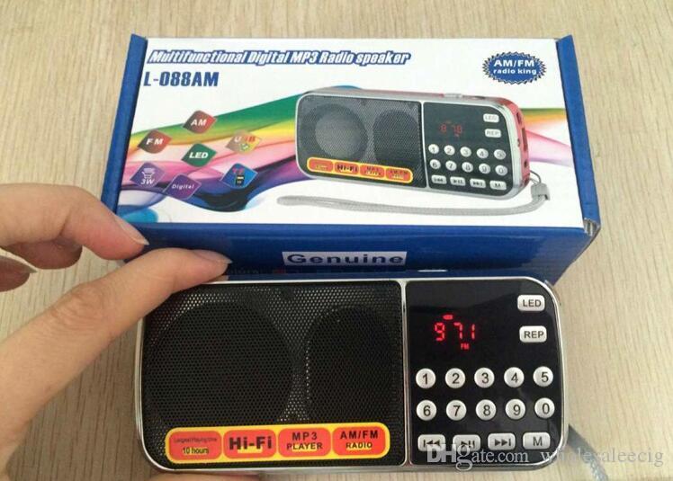 LED ile L-088AM radyo dış ticaret 2020 taşınabilir kart hoparlör mini MP3 çalar yaşlı makine Patlayıcı modellerini ışıkları