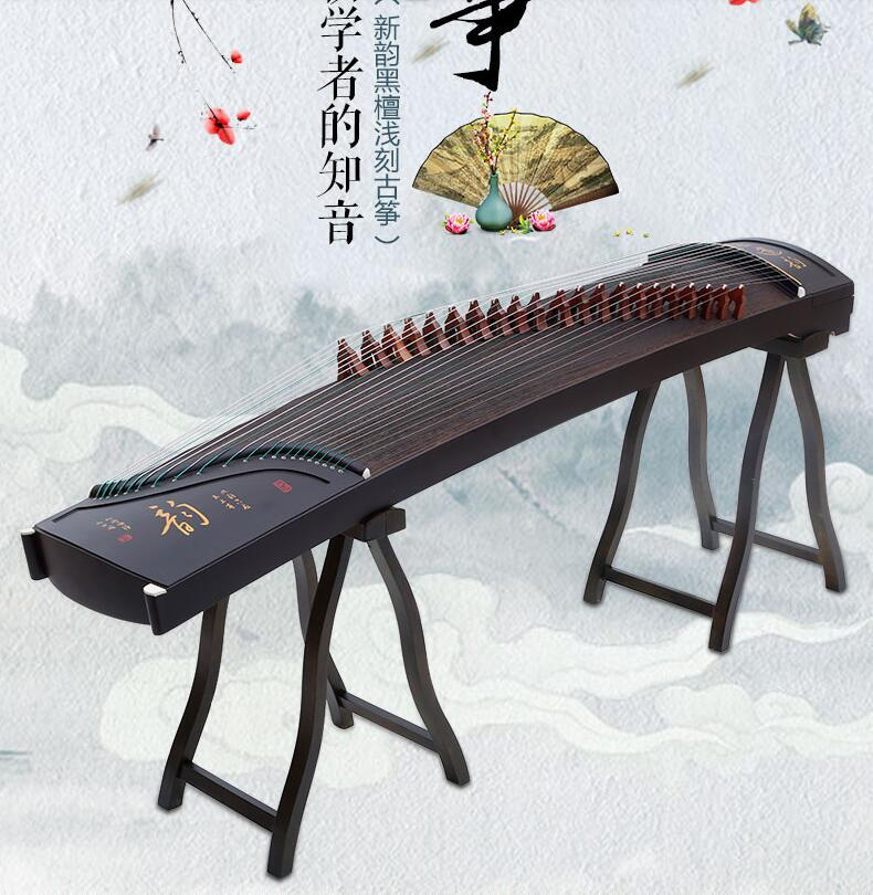 professional 21 stringed Chinese zither phoebe wood Guzheng white pine solid wood letters engraved gu zheng zither