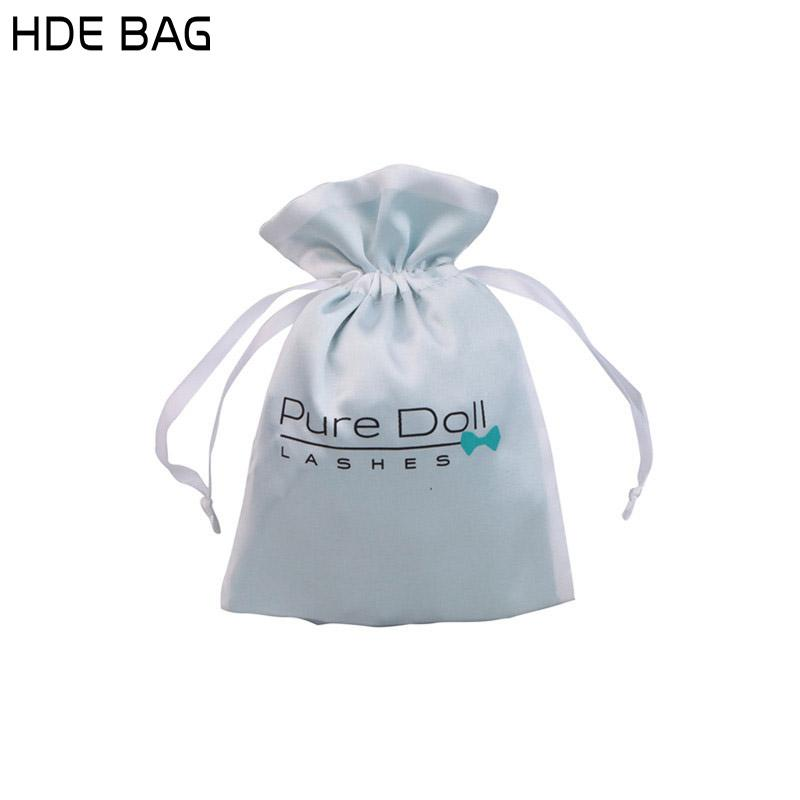 10x15cm Custom Logo Jewelry Organizer Cosmetic Bag double Layers Silk Satin Bag Bead Container Gift Bag 100 pcs/lot
