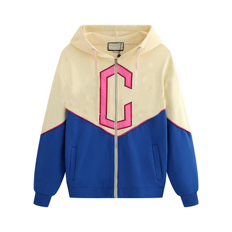 Sudaderas con capucha de diseño de manga larga para hombres de diseñador para otoño invierno mezcla de algodón ropa de color de contraste casual con patrón de letras