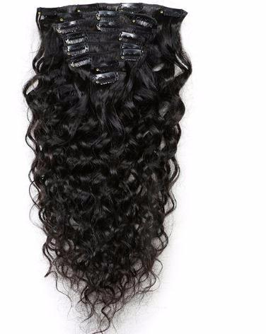 2019 Brazilian Remy Natural Wave Hair Clip In Human Extensions Natural Color 8 Pieces/set Full Head Sets 120g Ship Free
