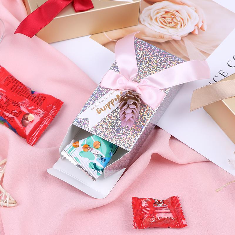 boîtes de bonbons au chocolat contenant 1pc personnalisé lot unique cadeaux de retour de mariage boîte de faveur personnalisé pour les clients