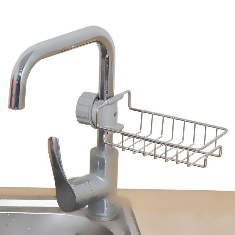 Ayarlanabilir Musluk Drenaj Raf Paslanmaz Çelik Mutfak Sundries Depolama Banyo Sabunu Rag and Sünger düzenlemek Ev Depolama Orga için Raf