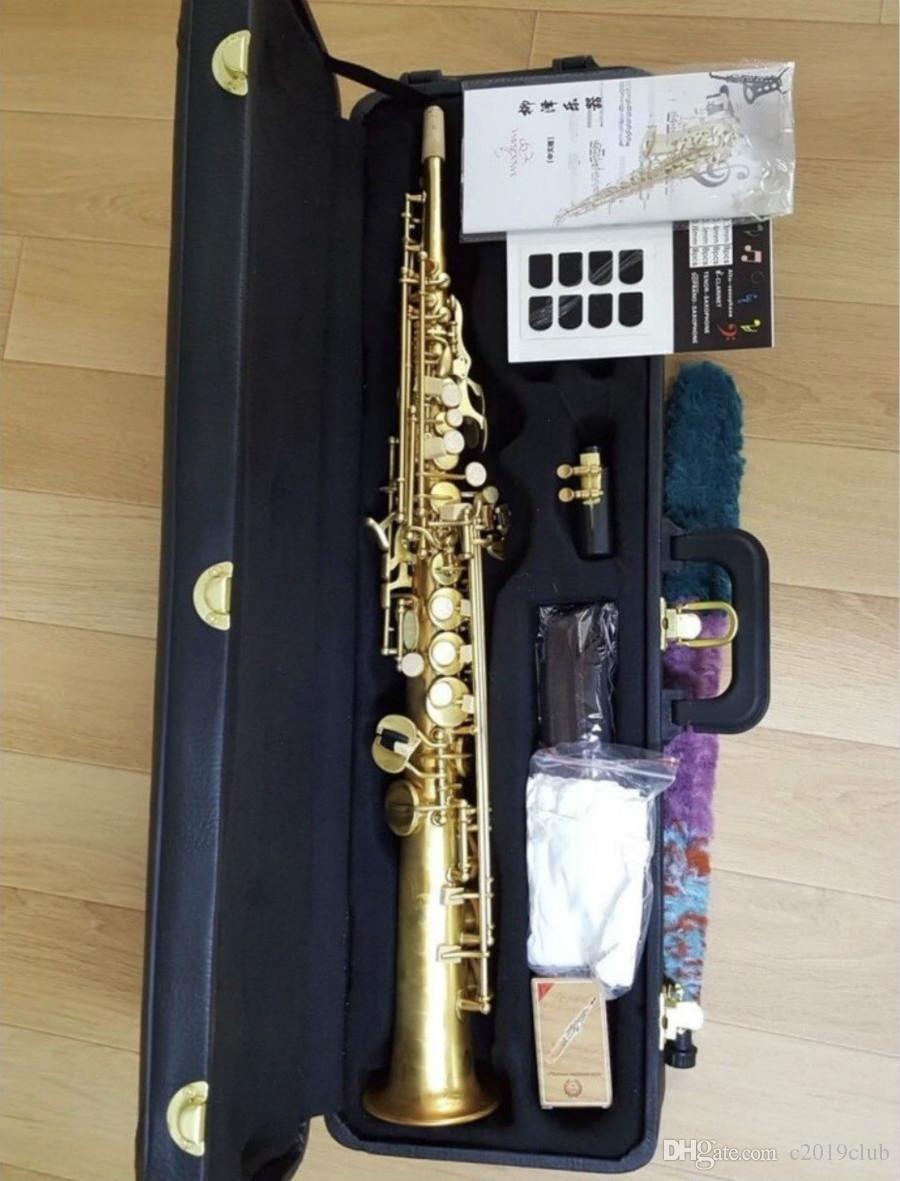 Yanagisawa S-901 soprano b شقة ساكسفون الموسيقية النحاس الذهب ورنيش جودة عالية ساكس مع الملحقات حالة لسان حال