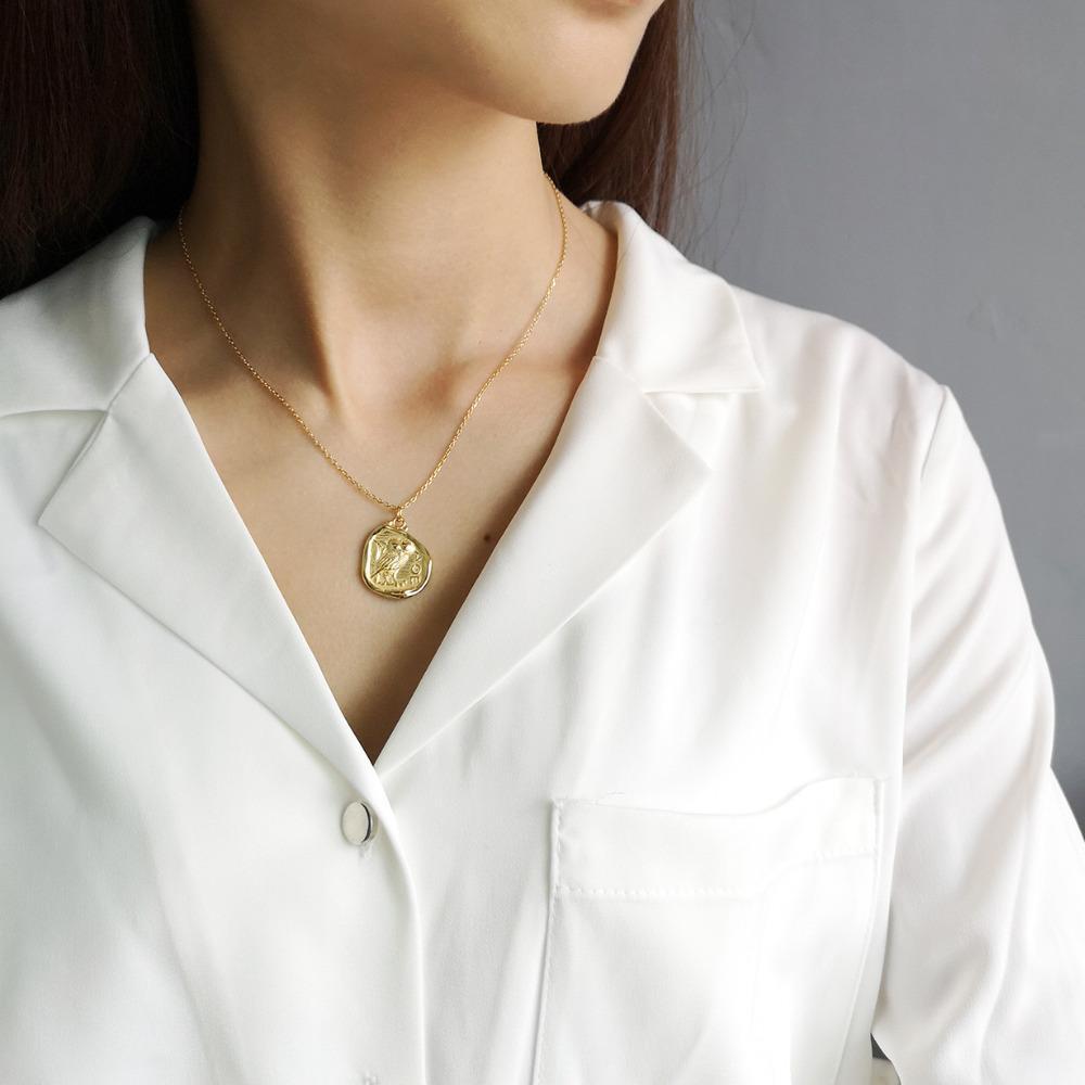 Новые Женщины Мода Старинные Европейский Золотой Цвет Сова Ожерелье 2019 Стерлингового Серебра 925 Ювелирные Изделия Подарки Друг Collier Femme
