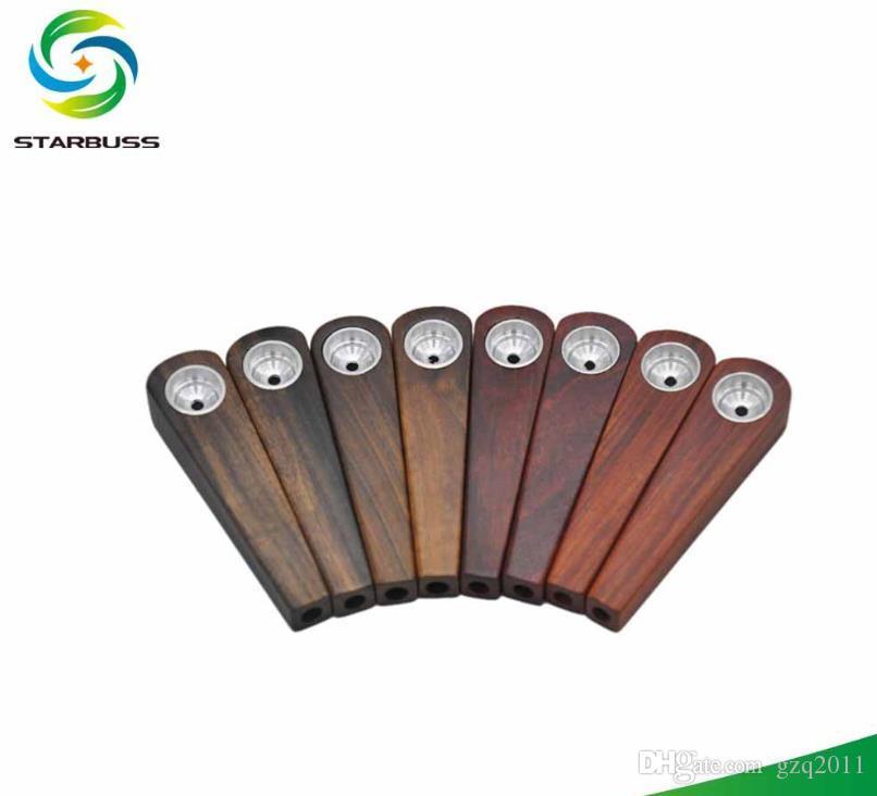 Tubulação pequena livre portátil da tubulação do registro da madeira contínua do Portable-suporte do fumo