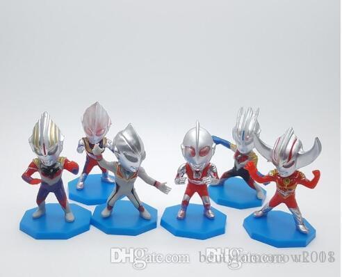 çocuklar hediye mevcut sıcak satışın Beauty 6style Ultraman superman modeli oyuncak erkek hediyeler bebek