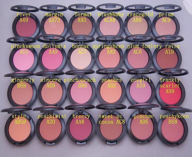 Top qualidade Hot vender face famoso Maquiagem 24 cores único SHEERTONE Blush 6g com nome da cor