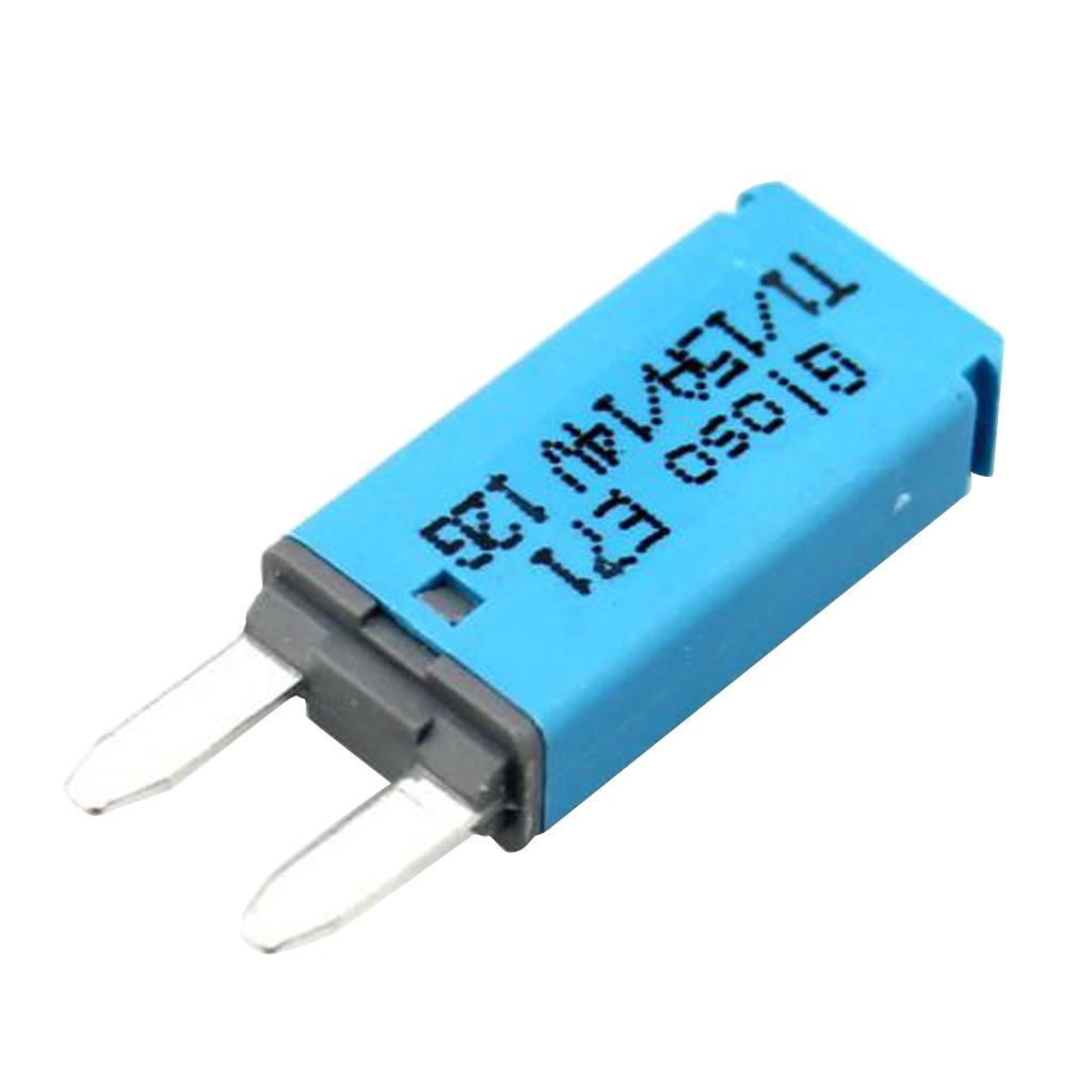 15A 14V DC Car Veículos Mini Lâmina Fusível Disjuntor reajustável azul Proteção de circuitos