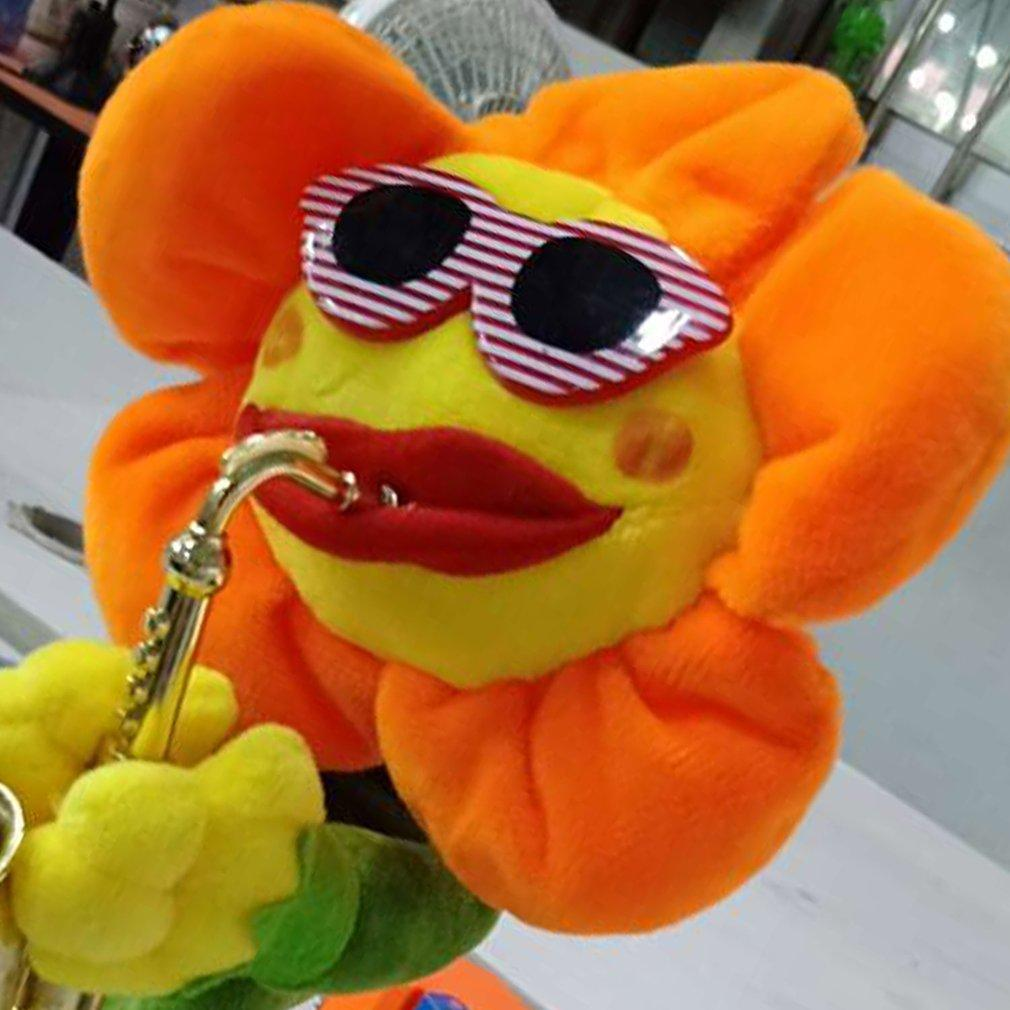Singing Dancing Saxophone Sunflower Toy USB Charging Electric Toy