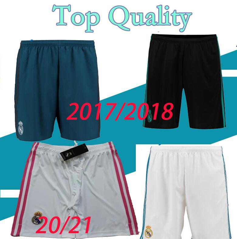 2017 2018 top quality adult real madrid Soccer shorts camisetas de futbol 20 21 home white HAZARD ISCO modric football shots pants