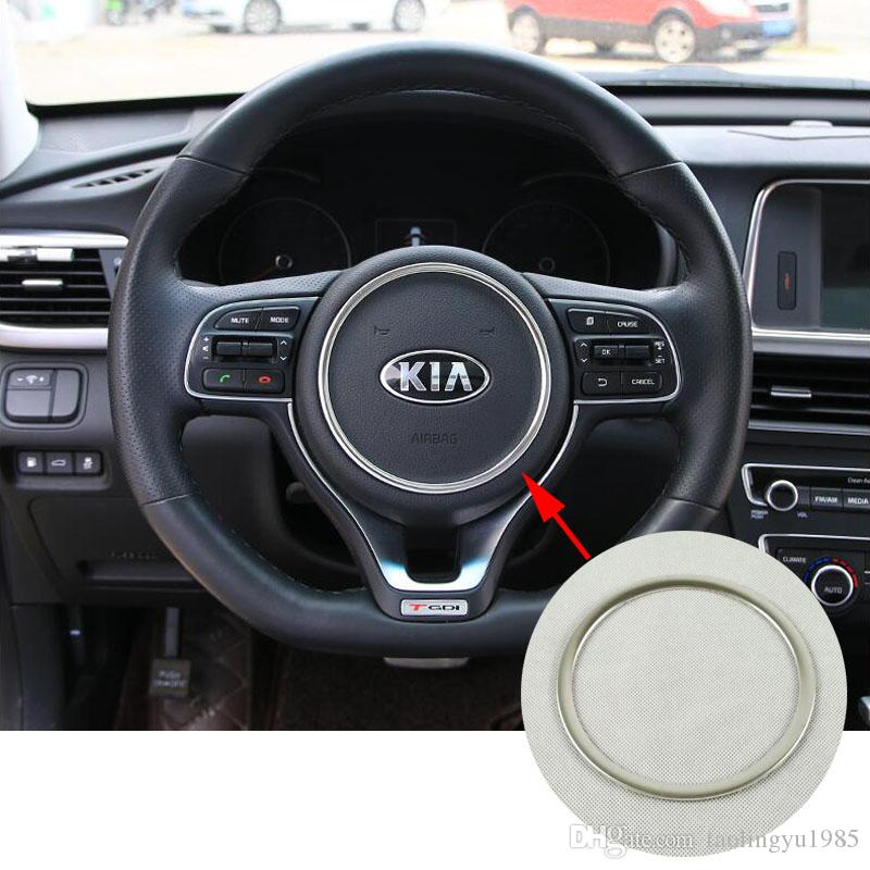 2016 Kia Optima Accessories >> Stainless Inner Steering Wheel Decoration Ring Cover Trim For Kia Optima K5 2016 2017 Car Accessories Interior Car Accessories Interior Decoration