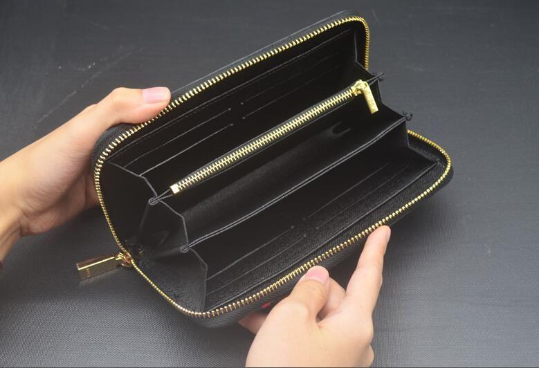 Titolare Lady Fashion Women wristlet Portafogli Borse lungo Money Bag Zipper Coin Purse ID Cards frizione Portafoglio Donna Burse Notecase