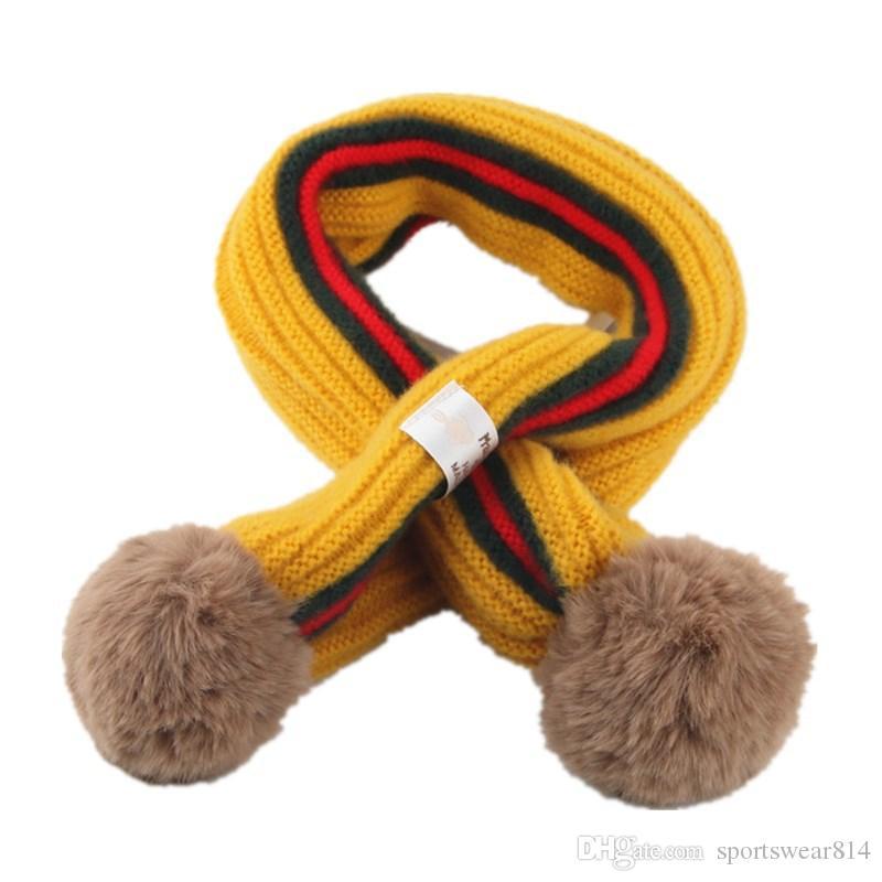 Inverno Bambini Sciarpa al collo delle ragazze dei ragazzi del bambino sciarpa del bambino del cotone Accessori addensato Sciarpe delle ragazze dei neonati sciarpe calde