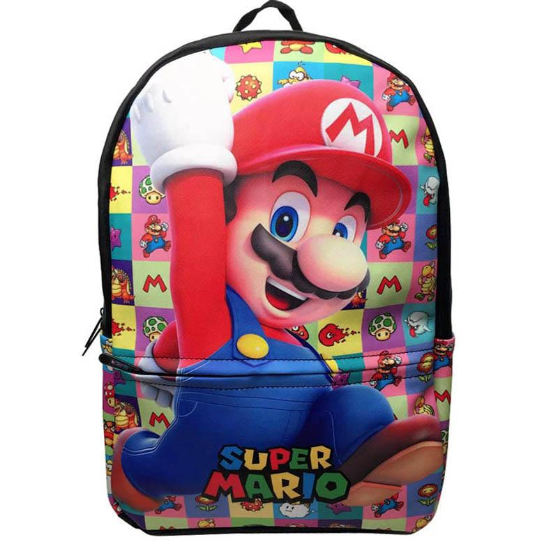 super mario backpack hot selling 2018 products cartoon character school backpack bags for children