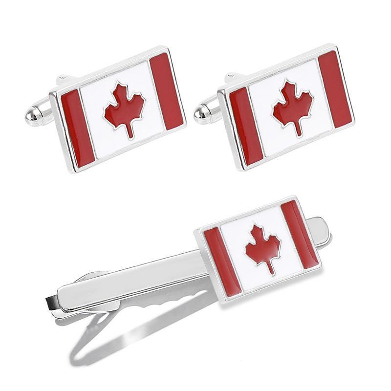 Зажим для галстука Циркон галстук куртка серии мода мужская клип 13 г канадский флаг галстук застежки гвоздики запонки