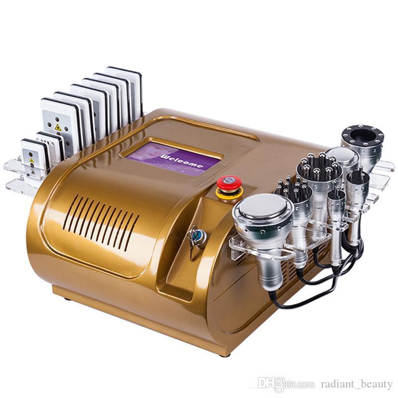 40K Cavitation RF 8 Multipolaire Tapis Lipo Laser vide Liposuccion Laser Slimming Machine Raffermissement Forme du corps Wight perte Salon Spa
