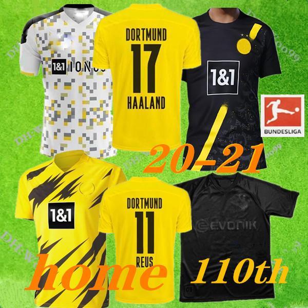 Тайского качество 2020 Главный желтая третий футбол Джерси 2020 2021 прочь 7 # рубашка футбола сто десятый 17 # мужчина + дети комплект Майо S-XXL