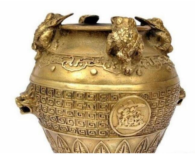 NEW ++++The copper pot Zhaocai enrichment toad felicitous wish of making money Home Furnishing feng shui ornamen