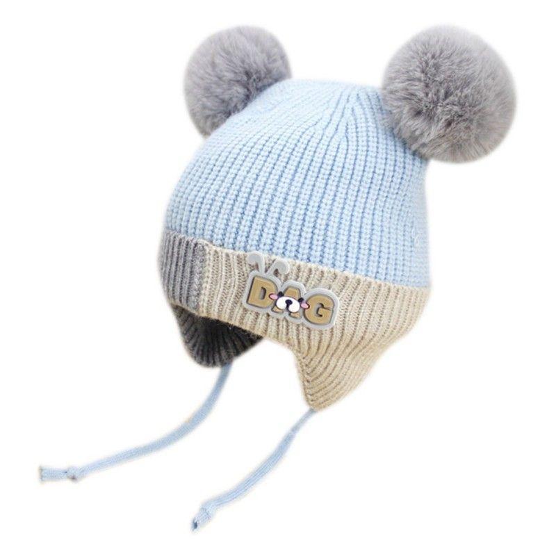 Cute Toddler Kids Girl Boy Baby Infant WinteACr Warm Crochet Knit Hat Beanie Cap Pink Grey Yellow