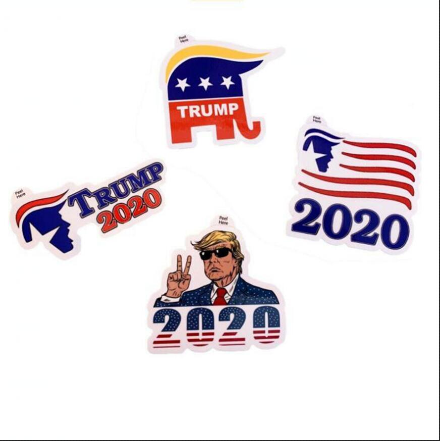 Donald Trump Sticker Trump 2020 4 Styles Yapıştırıcı Sticker Dekorasyon Tampon Çıkartmaları Pencere Kapı Buzdolabı Notebook Araç Plakası OOA7904