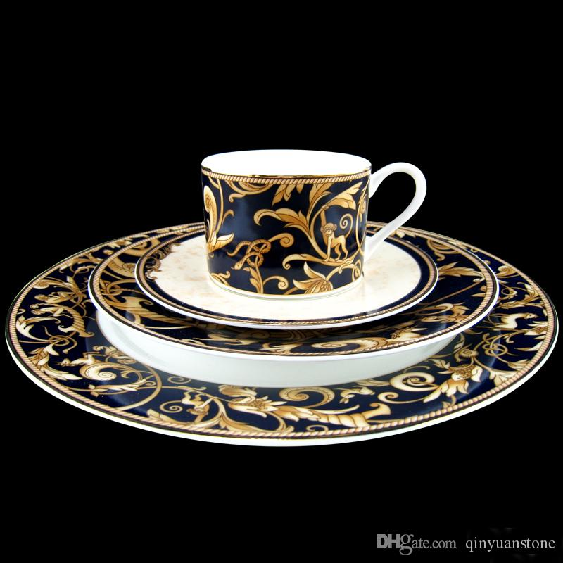 Mythos prato De Jantar conjuntos de porcelana xícara e pires 8 polegadas 10 1 / 2polegadas