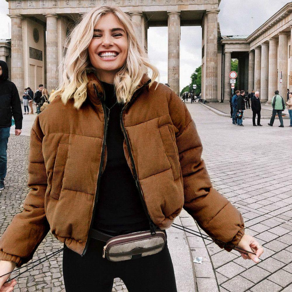 Escudo diseñador 2020 nueva cadera calle de la llegada 2020 Mujeres Moda hop estilo viste de las mujeres ocasionales de lujo flojo chaquetas de mujer de marca abajo cubren Parkas