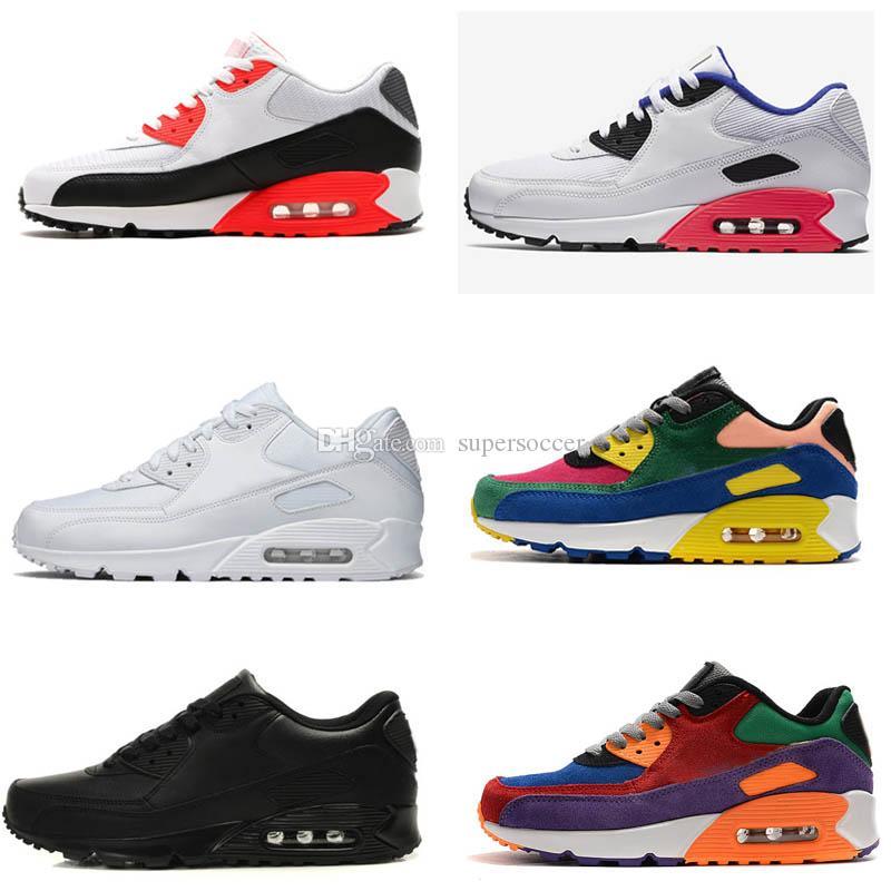 Alta Qualidade Mens sapatilhas Men clássico Running Shoes Black Red White instrutor Sports Cushion superfície respirável Sports Shoes 4
