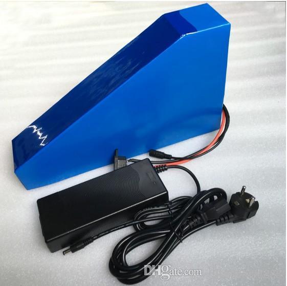 TAXT GRATUIT TRIANGLE 14S TRIANGLE 51.8V 20AH Batterie de vélo électrique 48V 1000W Batterie au lithium 52V 20Ah Batterie à vélos E-Batterie avec 30A BMS + Chargeur