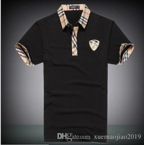 6562-2 짧은 소매 남성 폴로 셔츠 버튼 슬림핏 여름 캐주얼 Camisas 폴로 남성 브랜드 블랙 화이트 레드 퍼플 크기 6XL