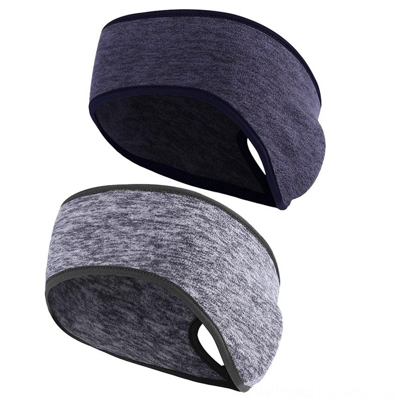 2Pack Outdoor Ponytail Headband Ear Warmer Yoga Fitness Supplies Head Wrap for Yoga Fitness Cycling Tennis Running Sweatband