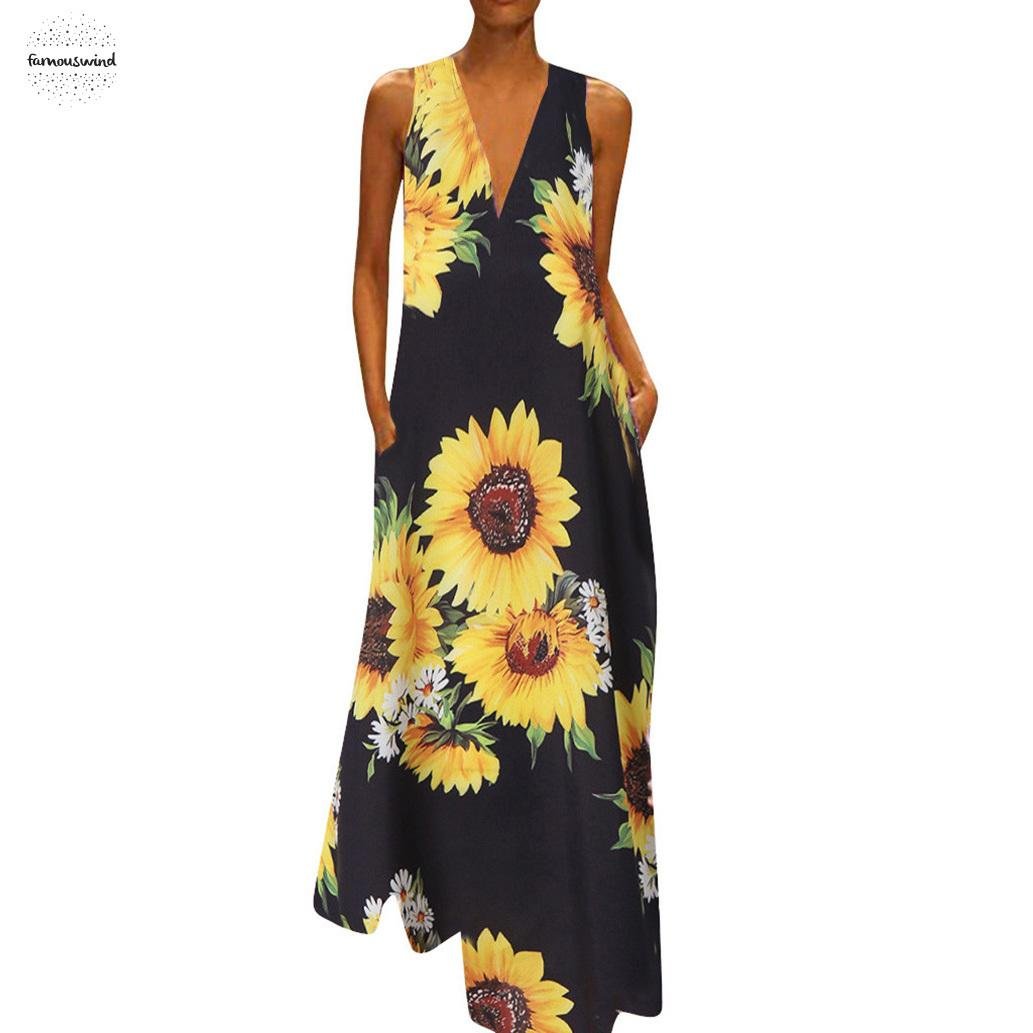 Dresses for Women Floral Print Maxi Dress Casual V Neck Irregular Cocktail Party Plus Size Sundress