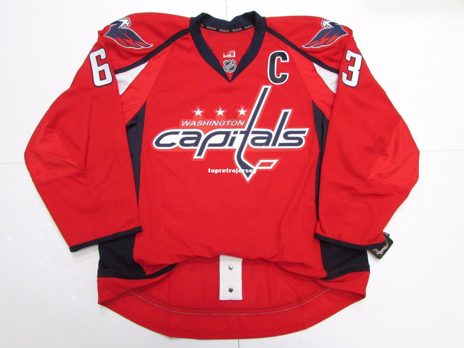 Pas cher coutume WASHINGTON CAPITALS MAISON MAILLOT stitch ajouter n'importe quel numéro n'importe quel nom jersey de hockey pour homme