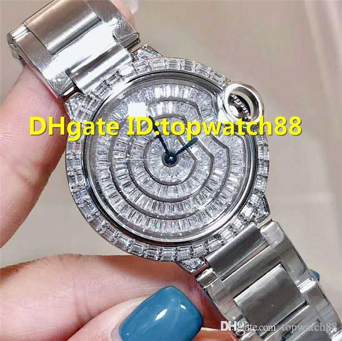 Hot Ballon Bleu DE donna Diamond Watch Ladies Watch quarzo svizzero Sapphire Crystal in acciaio inox completi Diamond Dial Solid Fondello