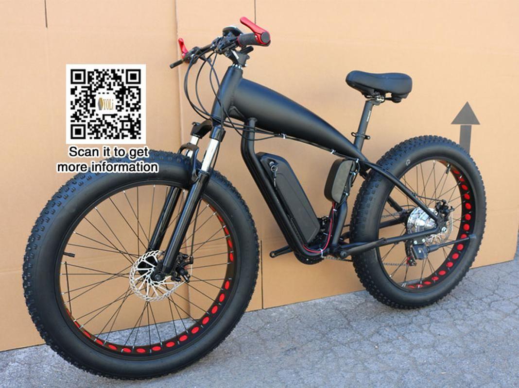 الجبل سعر الدراجة الكهربائية الدهون الدراجة 48V 21 سرعة 10A / 15A / 18A المحرك 4.0 دراجة الدهون الاطارات الجبلية 26 بوصة