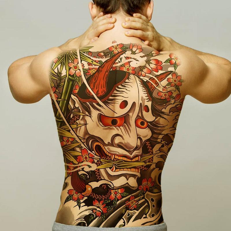 Temporary Men Tattoos Water Transfer Tattoo Full Back Large Tatoo Fake Dragon Wings Tattoo And Body Art Sticker Sexy Decals Big T190711