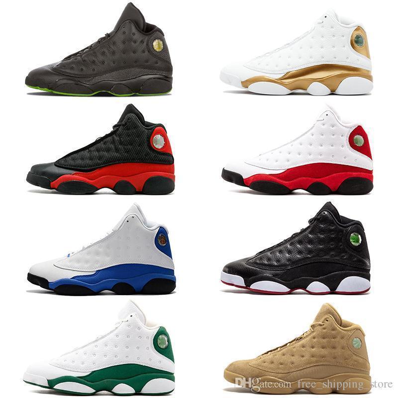 New Hyper Royale 13 13s Chaussures de basket-Bred blé Black Cat Dmp Chicago He Got jeu entraîneurs des hommes de sport Chaussures de sport Taille 8-13