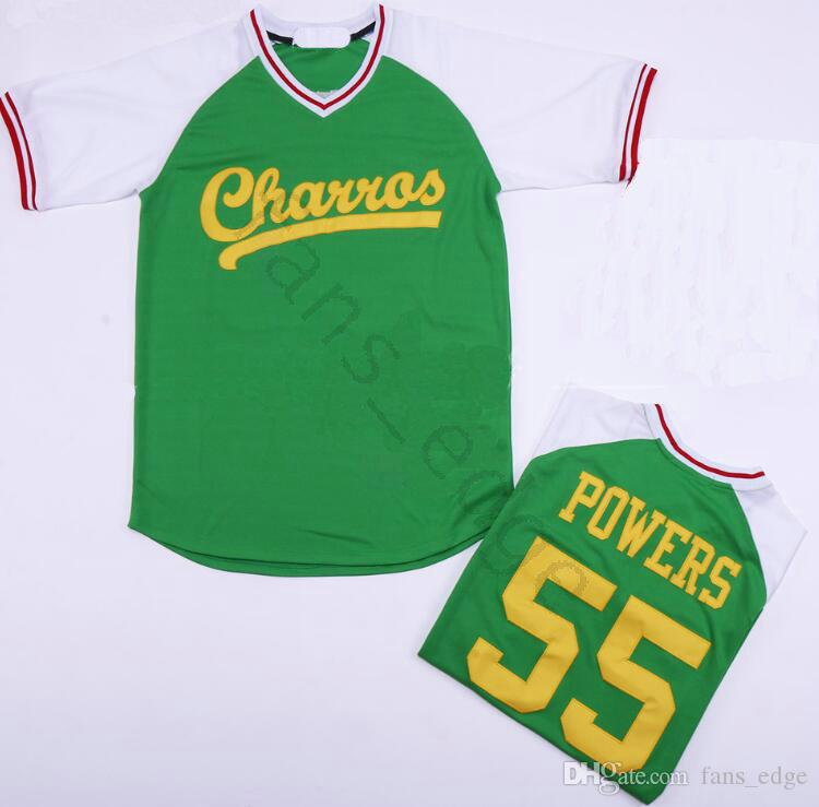 Cheap Mens Kenny Powers Eastbound and Down Mexican Charros Baseball Jersey Green White Black Stitched jerseys free shipping