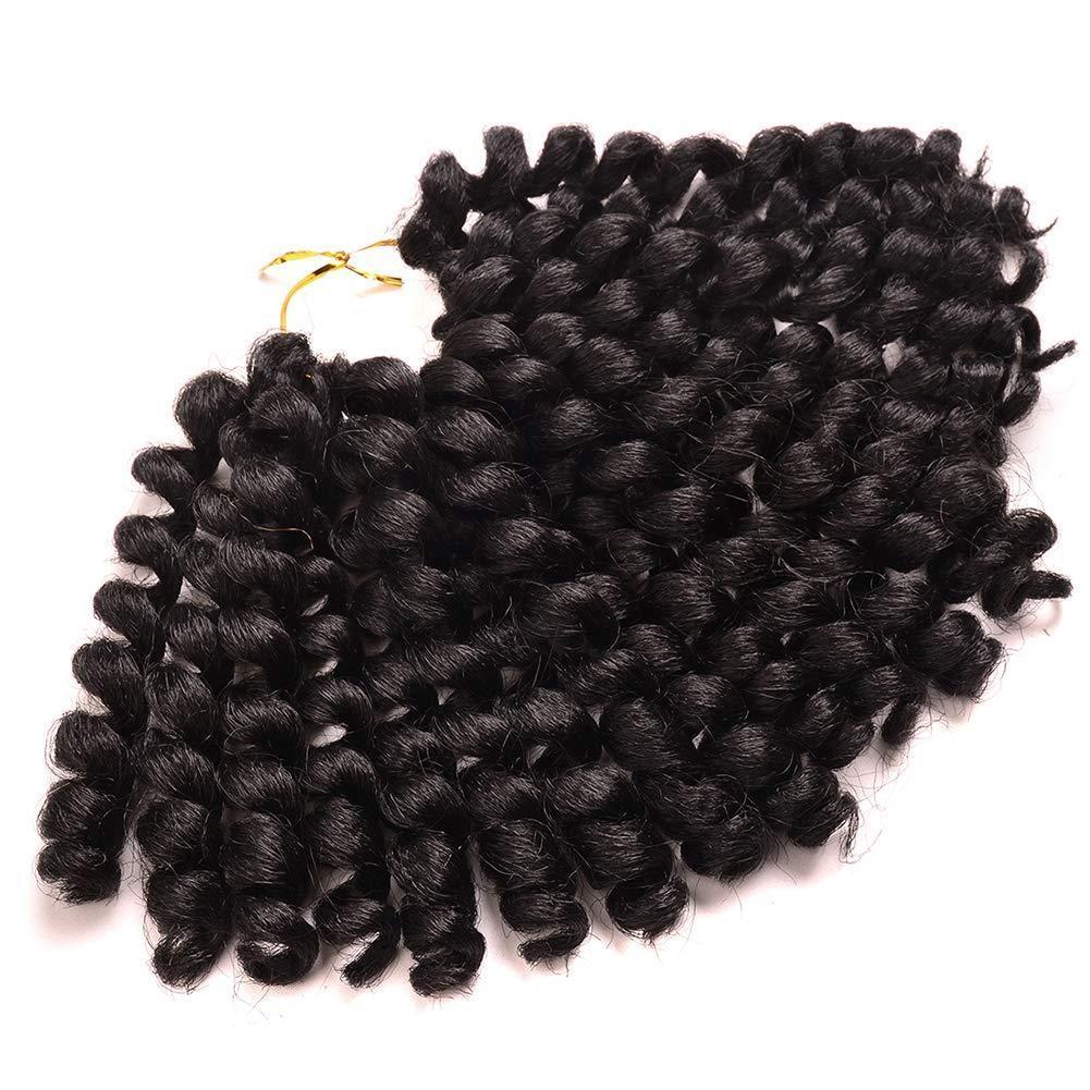 1Packs Crochet Wand Curl Braids Hair 20 Roots 8 Inch Jamaican Bounce Twist African Braiding Hair For Black Women (1b#)