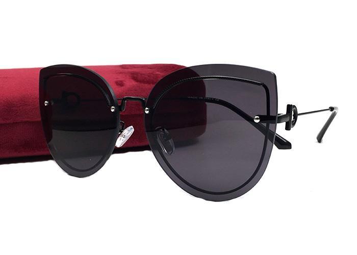 حار بيع الصيف نمط الأزياء النظارات الشمسية خمر للنساء القط الساخنة عيون بدون شفة الإطار uv حماية تأتي مع القضية